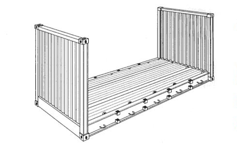Flat-20-container